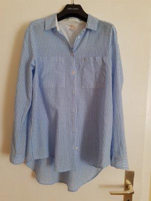 Esprit Shirt met lange mouwen azuur-wit Katoen