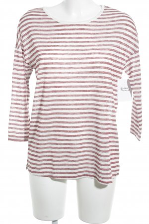Esprit Long Shirt white-dark red striped pattern casual look
