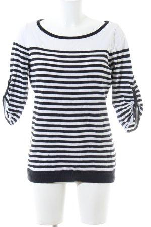 Esprit Longsleeve weiß-schwarz Streifenmuster Casual-Look