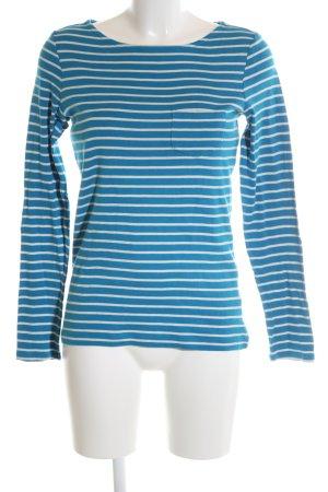 Esprit Longsleeve blau-weiß Streifenmuster Casual-Look