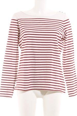 Esprit Manga larga blanco-rojo estampado a rayas look casual