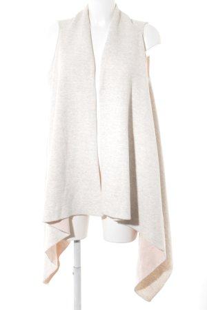 Esprit Gilet long tricoté crème-beige clair style décontracté