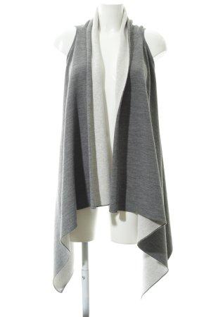 Esprit Chaleco de punto largo gris-blanco puro look casual