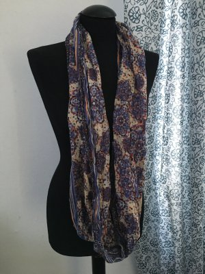 Esprit Foulard bleu acier-brun sable