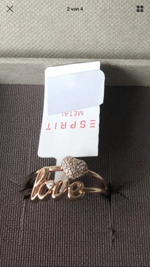 Esprit Love Ring in Roségold neu mit Karton