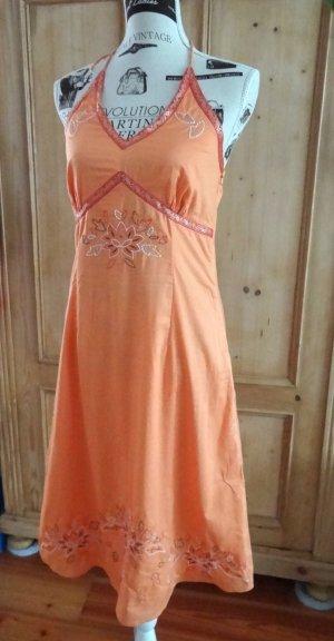 Esprit Halter Dress orange cotton