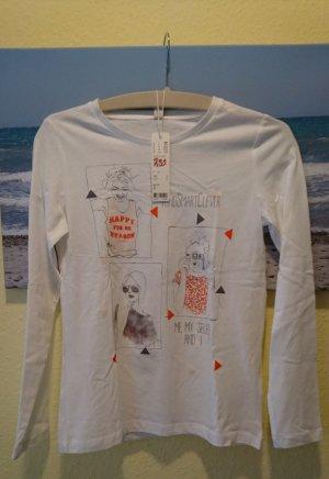 ESPRIT Mädchen-Langarm-T-Shirt weiß