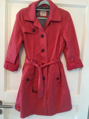 Esprit Mantel Trenchcoat rosa / rot Gr. 36