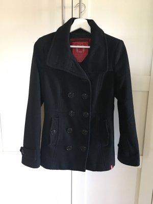 Esprit Mantel Winterjacke schwarz Damen Übergangsjacke tailliert casual