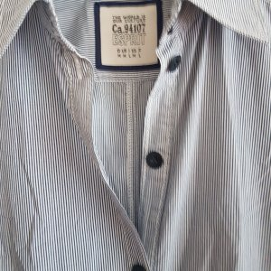 Esprit Shirtwaist dress white-azure cotton