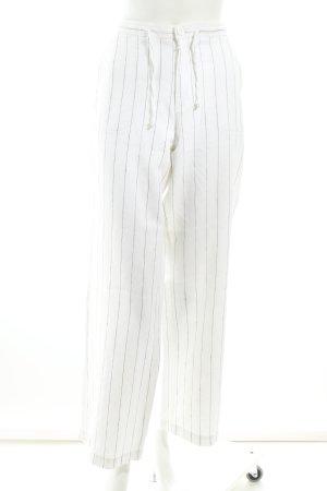 Esprit Marlenehose weiß-dunkelblau Streifenmuster Marine-Look