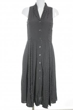 Esprit Maxikleid schwarz-weiß Punktemuster Casual-Look