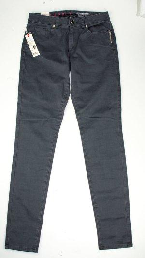 Esprit Medium Rise Skinny Baumwoll Stretch Hose grau Gr.36 (L 32), NEU
