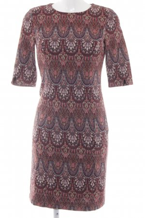 Esprit Midi Dress dark red abstract pattern