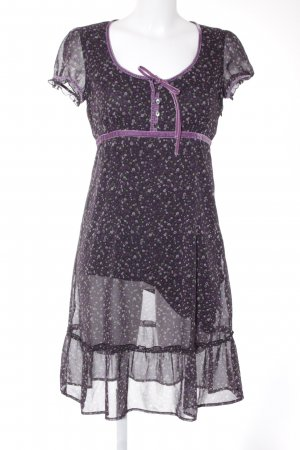 Esprit Midi Dress grey lilac-black floral pattern casual look