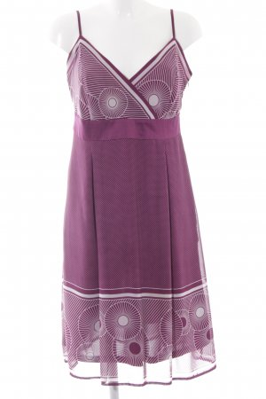 Esprit Midikleid purpur-weiß Allover-Druck Elegant