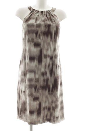 Esprit Midikleid silberfarben-taupe grafisches Muster Elegant