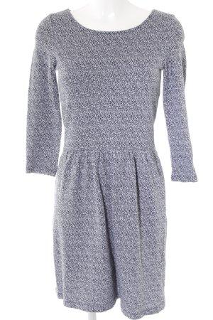 Esprit Midi-jurk wit-donkergrijs gestippeld casual uitstraling