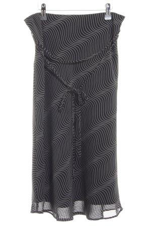 Esprit Midirock schwarz-weiß grafisches Muster Casual-Look