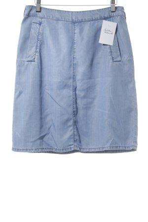 Esprit Midirock hellblau Jeans-Optik