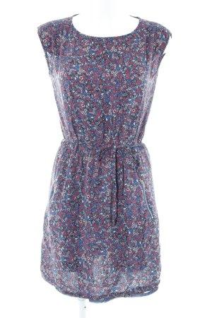 Esprit Minikleid dunkelblau-magenta Blumenmuster Casual-Look