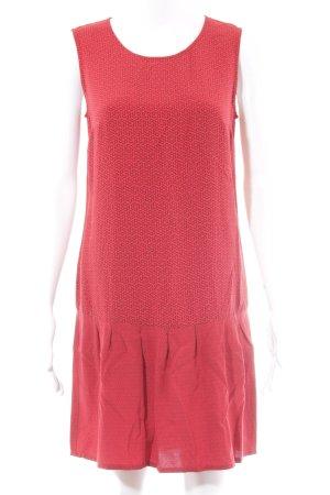 Esprit Minikleid rot-graubraun abstraktes Muster Casual-Look