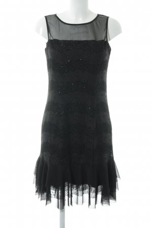 Esprit Minikleid schwarz Glitzer-Optik