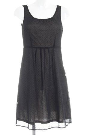 Esprit Minikleid schwarz Punktemuster Casual-Look