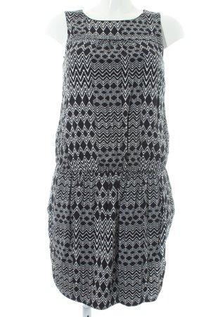 Esprit Minikleid schwarz-weiß abstraktes Muster klassischer Stil