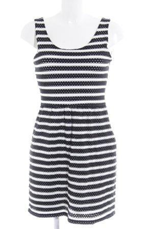 Esprit Minikleid weiß-schwarz Ringelmuster Casual-Look