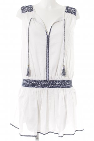 Esprit Minikleid wollweiß-dunkelblau Beach-Look