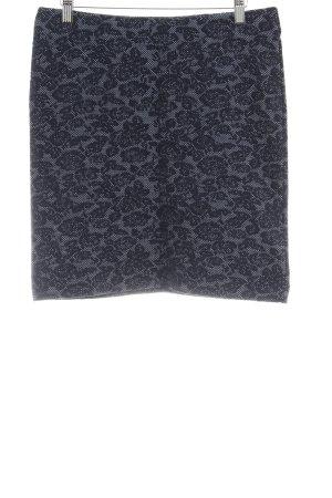 Esprit Minirock dunkelblau abstraktes Muster Casual-Look