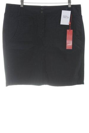 Esprit Minirock dunkelblau-wollweiß Nadelstreifen Business-Look