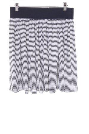 Esprit Minigonna bianco-blu scuro motivo a righe stile marinaro