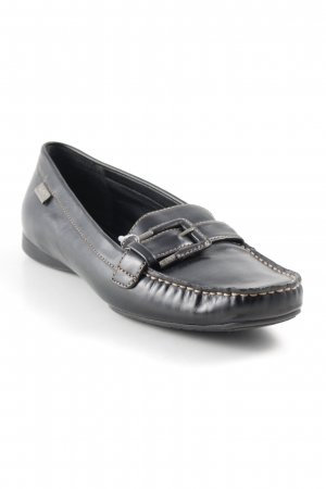 Esprit Moccasins black-silver-colored casual look