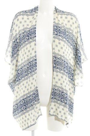 Esprit Monokini crème-bleu foncé motif graphique Look de plage