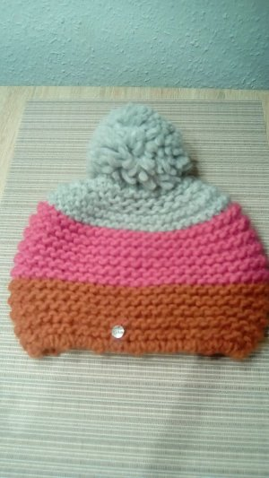 Esprit Knitted Hat multicolored wool