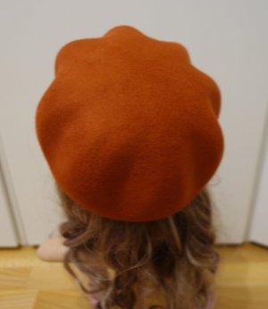 Edc Esprit Hat dark orange-russet wool