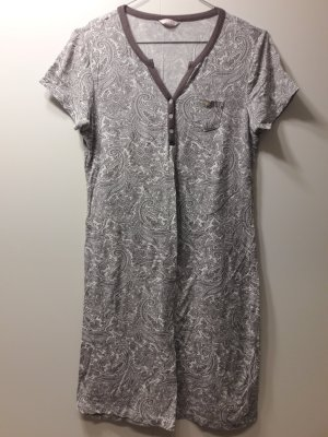 Esprit Nachthemd kurzarm Paisley-Muster naturweiß graubraun Gr. 36