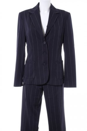 Esprit Pinstripe Suit dark blue-white pinstripe business style