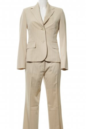 Esprit Pinstripe Suit natural white striped pattern business style