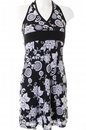 Esprit Halter Dress black-white flower pattern casual look