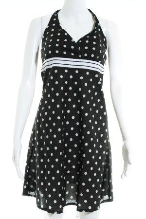 Esprit Neckholderkleid schwarz-weiß Punktemuster 50ies-Stil