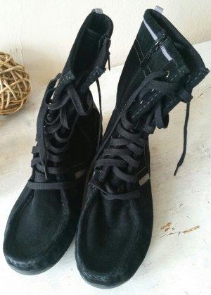 Esprit Cothurne noir-gris cuir