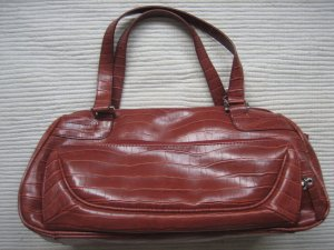 Esprit Bowling Bag brick red imitation leather