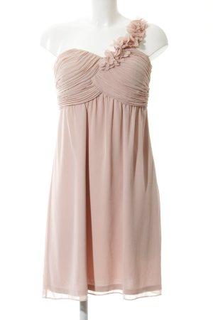 Esprit Vestido de un hombro rosa-crema elegante