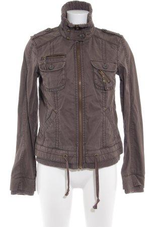 Esprit Giubbino marrone-grigio stile casual