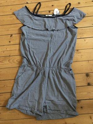 Esprit Overall jumpsuit in gestreift mit Carmenausschnitt neu