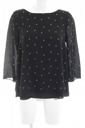 Esprit Oversized Bluse schwarz florales Muster Casual-Look