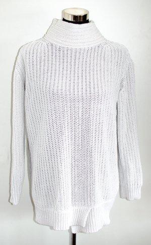 Esprit Oversized Grobstrick Longpullover Baumwolle, naturweiß XS wie 36/38, NP 70€